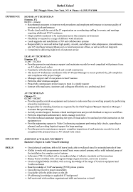Download AV Technician Resume Sample as Image file