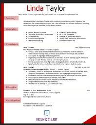 Resume Template For Teachers Resume Work Template