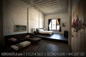 Nyc Bedroom Downtown Loft Nyc Loft Living Room Bedroom Film Location