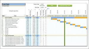 Construction Project Schedule Template Excel Svptraining Info