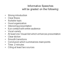 informative speech format introduction tell em what you re 5 informative speeches