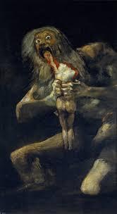 artist saturn devouring his son ca 1819 23 by francisco de goya