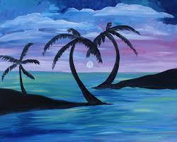 palm tree love at mt lebanon pub and paint nite pittsburgh