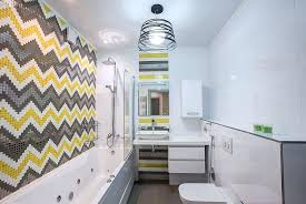yellow tile bathrooms view in gallery chevron patterned tile design in yellow and gray create a