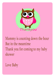 Happi Tree Owl Baby Shower 2038Owl Baby Shower Thank You Cards