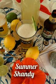 best homemade summer shandy with lemonade and beer