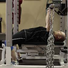 Rugby League Training Drill 4 Bench Press With Chains  Pro Chains Bench Press