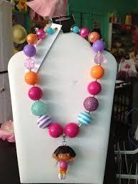 Dora Gumball Necklace by ItzyBitzyGlitzy on Etsy | Kids jewelry, Necklace,  Dora