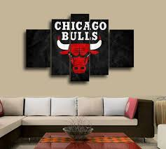 nba chicago bulls wall decoration abstract canvas oil painting