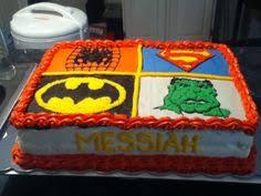superhero sheet cake superhero sheet cake from the batter up bake shop llc pinterest