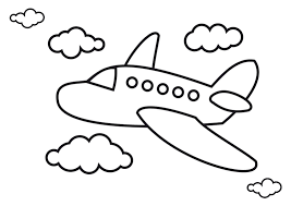 airplane drawing for kids. Modren Drawing Airplane Drawing Pictures In For Kids Clipart Library