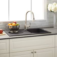Composite Granite Kitchen Sinks 34 Allardt Drop In Granite Composite Sink With Drainboard Black