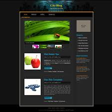 black website templates