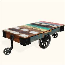 rustic coffee table with wheels gallery