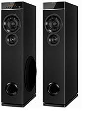 speakers in amazon. philips spt-6660 2.0 channel tower speakers (black) in amazon i