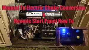 Remote Electric Choke Standby Generator Conversion Duromax Xp10000e