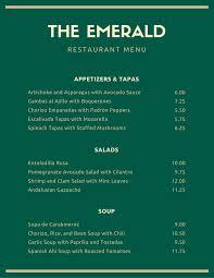 Fancy Restaurant Menu Dark Green Roman Border Fancy Menu Templates By Canva
