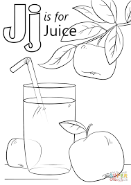 Small Picture Letter J is for Juice coloring page Free Printable Coloring Pages