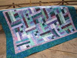 Teal and Purple Batik Handmade Quilt by PatchworkMountain on Etsy ... & Patchwork · Teal and Purple Batik Handmade Quilt ... Adamdwight.com