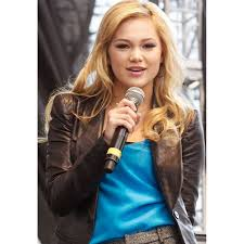 olivia holt black leather blazer style jacket coat