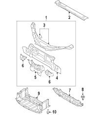 parts com� mazda mx 5 miata radiator support oem parts 1999 miata exhaust diagram at Miata Exhaust Diagram