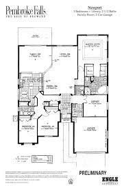 pembroke falls newport model floor plan