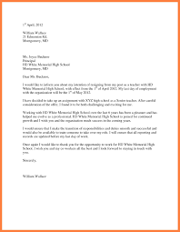 Resignation Letter Format For A Teacher Copy Resume Samples For ...