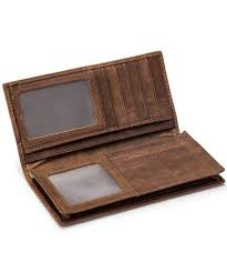men s bags wallets men s rfid blocking vintage look genuine leather long bifold wallet rfid rfid blocking coffee ce17ygn2s7s men bags purse