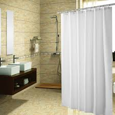 mildew resistant anti bacterial shower curtain liner eco friendly decoration resists tearing and rusting