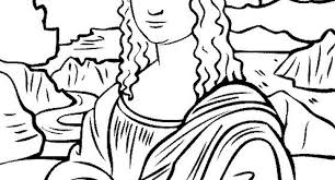 Small Picture mona lisa coloring sheet Archives Cool Coloring Pages and