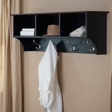 Black Wall Coat Rack Black Wall Coat Rack With Cubbies Shelves Tikspor 5