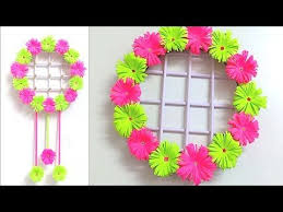 paper flower wall hanging ideas