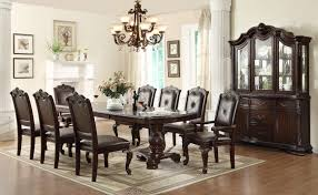 dining table with 10 chairs. Crown Mark Kiera Traditional Double Pedestal Dining Table | Wayside Furniture Tables With 10 Chairs T