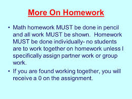 welcome to th grade math mrs laspina th grade this year is a more on homework math homework must be done in pencil and all work must be shown