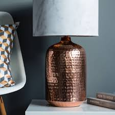 copper hammered pot table lamp base gifts for you
