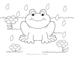 Printable Coloring Pages For Preschool Coloring Happy Spring