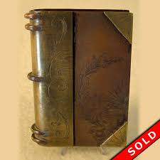 trench art lighter in shape of a book br copper