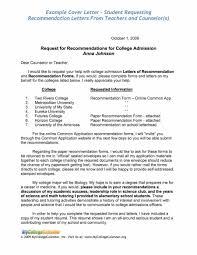 Lovely Student Resume For Letter Of Recommendation Resume