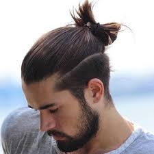top knot bun for long hair