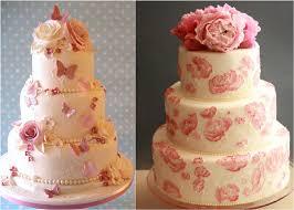 Berries Wedding Cake Pink Themed Wedding