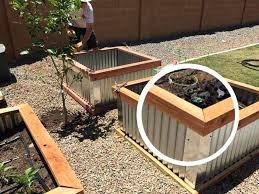 raised bed garden boxes metal beds uk with corrugated