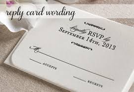 How To Reply To Wedding Rsvp Card Response Card Wording For Wedding Invitations