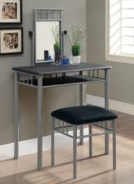 Small Vanity Table For Bedroom Grey Metal Bedroom Vanity Table Design With Grey Painted Bedroom