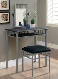 Small Bedroom Vanities Grey Metal Bedroom Vanity Table Design With Grey Painted Bedroom