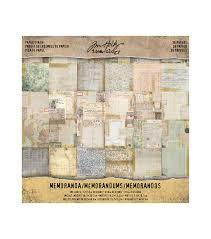 scrapbook paper paper craft supplies joann tim holtz® idea ology® pack of 36 memoranda paper stash