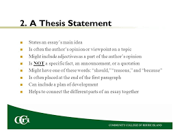essays dr karen petit this presentation explains how to avoid  a thesis statement states an essay s main idea