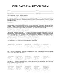 New Employee Evaluation Template 46 Employee Evaluation Forms Performance Review Examples