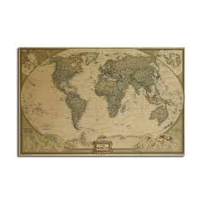 World Map Posters World Map Poster Kraft Paper Wall Poster Diy Wall Art 28 Inch X 18 Inch