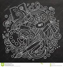 Cartoon Vector Doodles Art And Design Illustration Stock Vector