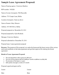 Lease Agreement Format Lease Agreement Proposal Template